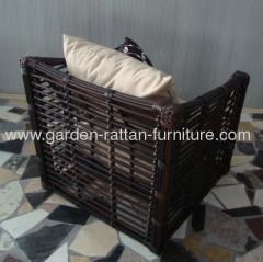 2013 Outdoor 12mm big round wicker garden furniture patio sofa set
