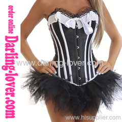 Sexy Wholesale Black Corset with Dress