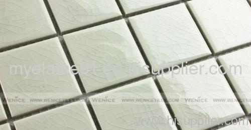 Decorative glossy ceramic mosaic