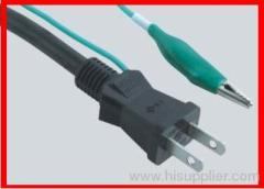2 pin PSE power cords with grounding wire