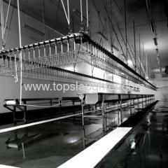 Chicken processing machine evisceration line
