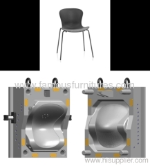 Molding plastic seat for Dining chairs