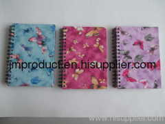 double wires fabric notebook