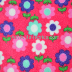 Polyester cheap print polar fleece fabric