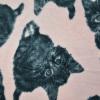 Animal-printed polar fleece fabric