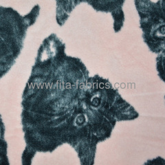 Garment animal-printed polar fleece fabric