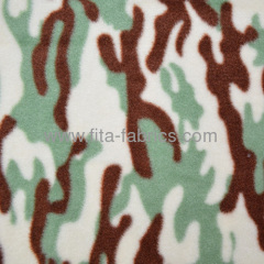 Polyester military/army desert Camouflage printed polar fleece fabric
