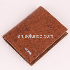 2013 fashion embossed wallet cow leather