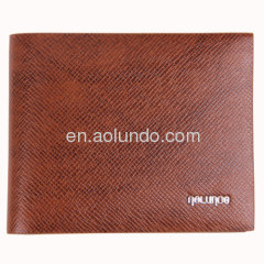 Personalized leather wallets grain cow leather wallet