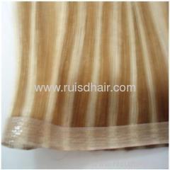 human hair seamless skin weft / PU weft