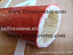 High Temperature Silicone Rubber Coated Fiberglass Firesleeve