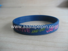 Charmed blue Silicone Wristband