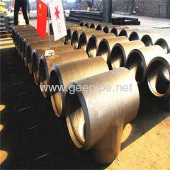 low price butt straight butt welded tee manufacturer
