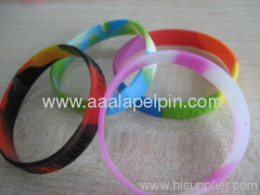 Multicolour 100% imprint Silicone Wristbands