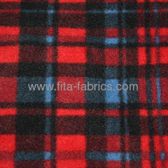 print gingham polar fleece fabric for blanket fleece