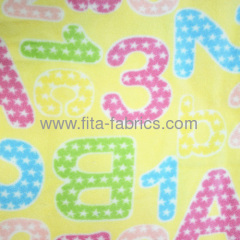 Printed polyester micro polar fleece