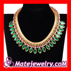 Chunky Rhinestone Bib Necklace