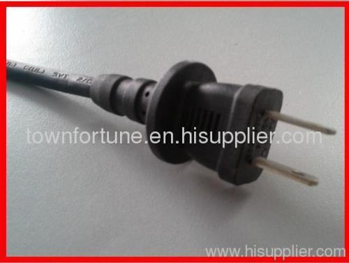 UL 2pin water proof plug with cords