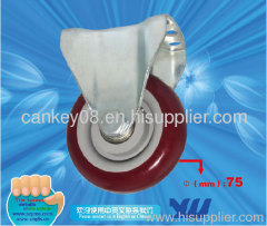 Fixed Rubber Caster Wheel for Industrial Handling Trolley