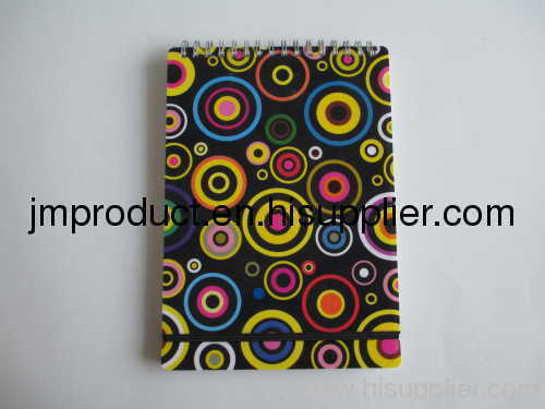 color print PP notebook with elastic