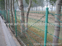 barbed wire mesh barrier