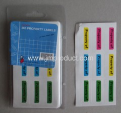 mailing labels & property labels for school and office