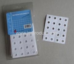 540 holes reinforcements stick label