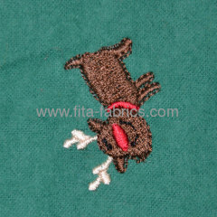 100% cotton embroidered flannel for garment