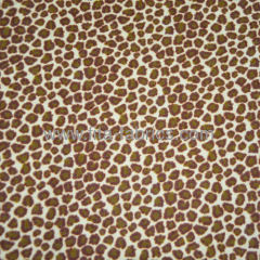 100% cotton Leopard grain printed flannel fabric