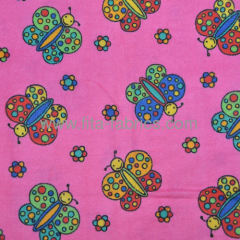 Buterfly Printed Cotton Kids Flannel