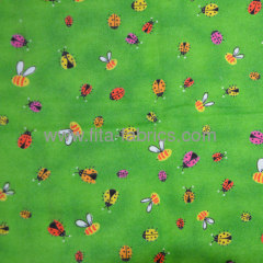 Insect printed baby flannel fabric or caroset sale