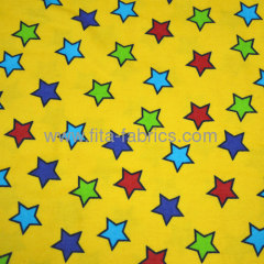 lucky star printed cotton baby flannel fabric