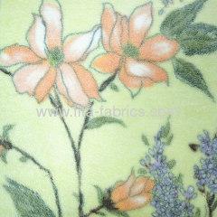 Flower printed coral velvet