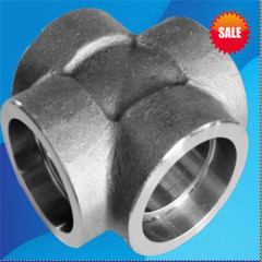 china forged alloy steel straight cross pipe fitting