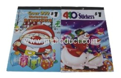 christmas stickers and personalized sticker pad