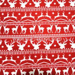 100% Cotton Elk or deer Printed Corduroy Fabric for Christmas Seris