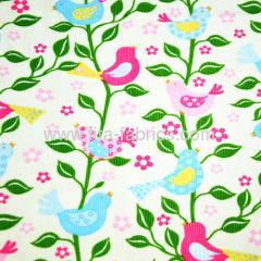 100% cotton birds printed corduroy fabric for corduroy jacke