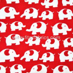 100% cotton corduroy fabric printed elephants