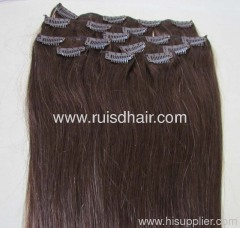 Brazilian remy clip in hair extension