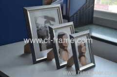 sliver color Plastic Photo Frame PS Photo Frame