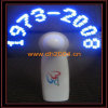 Led Flashing Fan---Blue led, Display customer's texts, Print customer's logo