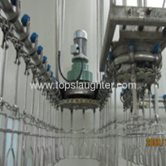 Broiler processing equipment spring tension device