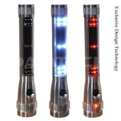 Solar LED Flashlight Warning LED with Magnetic Base