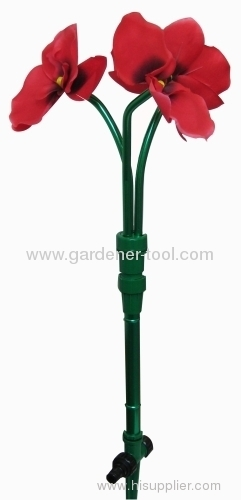 Lawn water flower sprinkler with plastic spike