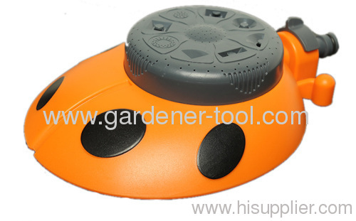 Plastic lawn water sprinkler for garden