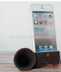 Black horn stand speaker/Silicone amplifier for iphone 5 5G