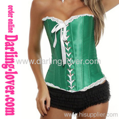 Sexy Lace-up New Green Corset