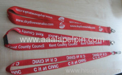 red lanyards polyester ribbed lanyards