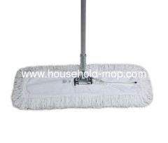 Euro style commercial flat dust mop frame with magnet lock