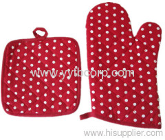 beautiful ovan glove and cup mat